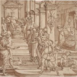 Escena de la historia de Asuero y Ester ?