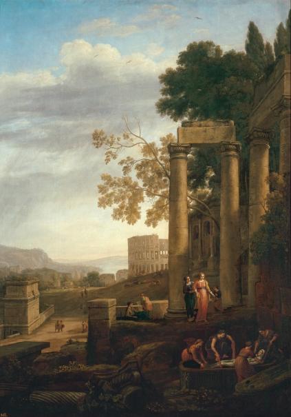 Paisaje con el entierro de Santa Serapia