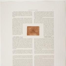 Página de texto sobre el Cristo de la Luz de Toledo, ilustrada con el detalle de la puerta lobulada de la mezquita