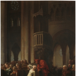 Margarita y Mefistófeles en la catedral