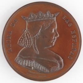 Medalla conmemorativa de la cesión de la Reina Isabel II del Patrimonio Real
