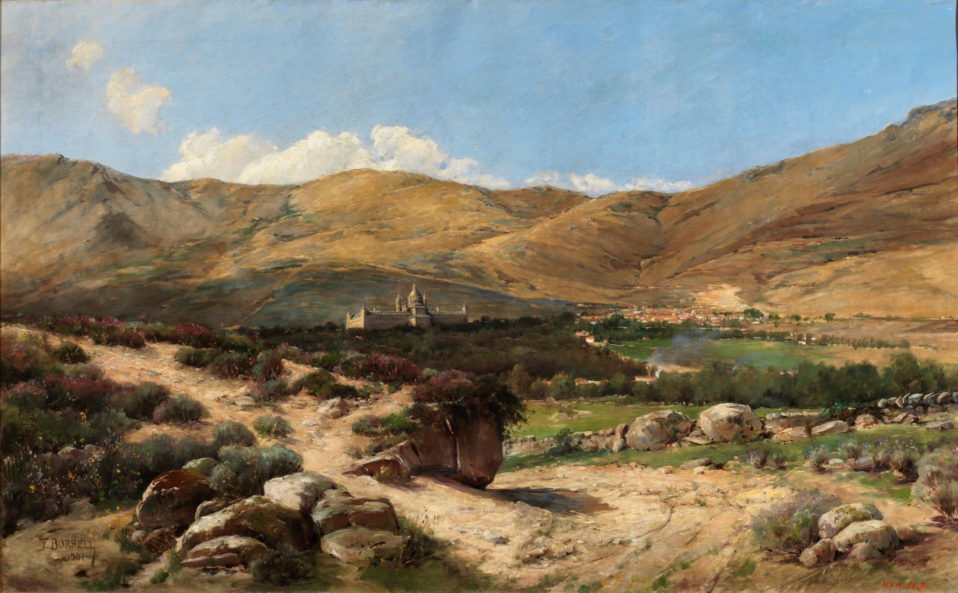 Paisaje de El Escorial - Colección - Museo Nacional del Prado