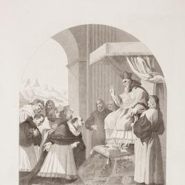 San Bruno y sus seis compañeros se presentan ante San Hugo