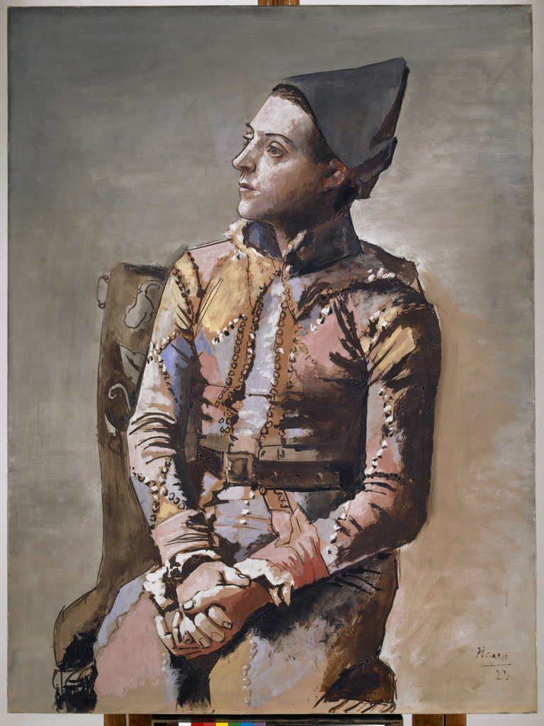 Seated Harlequin or The Painter Jacinto Salvadó