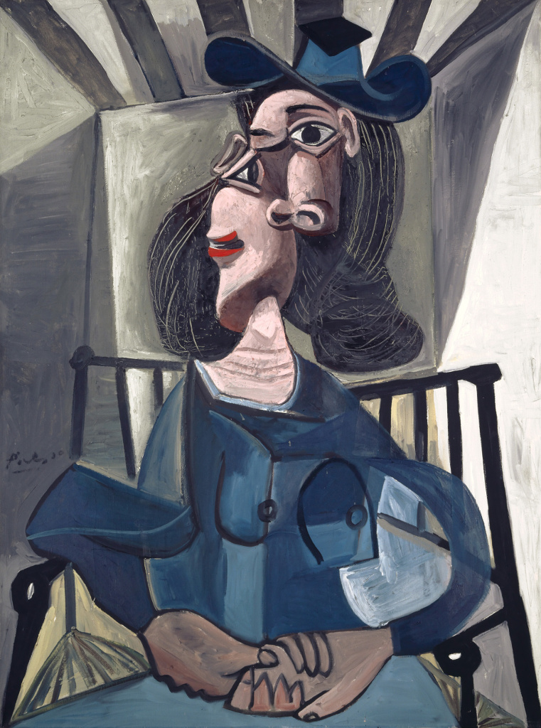 Woman with Hat Seated in an Armchair