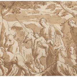 San Roque curando a los animales