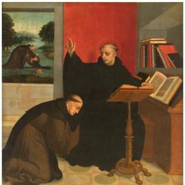 San Benito bendiciendo a San Mauro