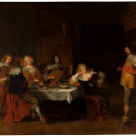 Banquete de cortesanas y soldados