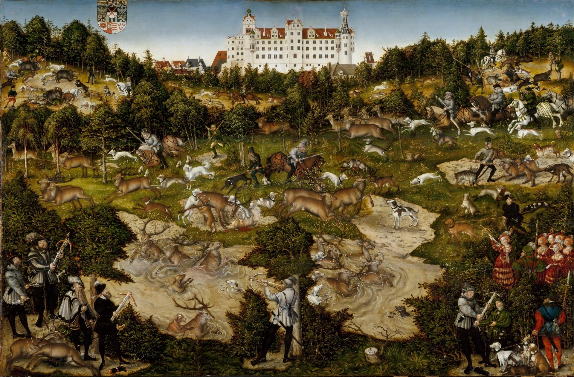 Cacería en el castillo de Torgau en honor de Carlos V - Colección ...