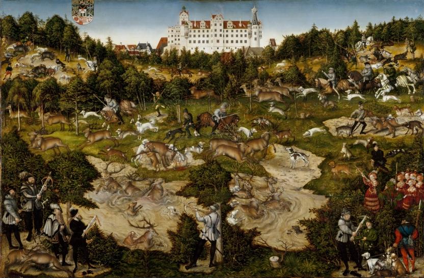 Cacería en el castillo de Torgau en honor de Carlos V