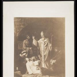 Entierro de santa Cecilia en las catacumbas de Roma