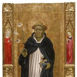 Santo Domingo de Guzmán y cuatro santos