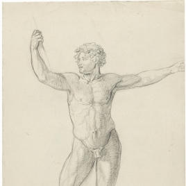 Estudio de desnudo masculino de frente