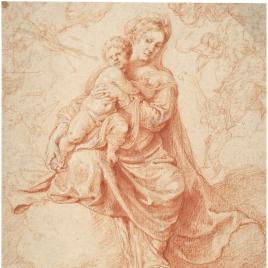 Virgen en Gloria con el Niño