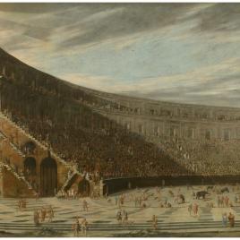 Perspectiva de un anfiteatro romano