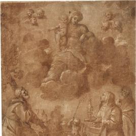 La Virgen con el Niño y santos