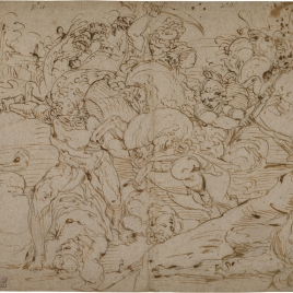 Battle between Hercules and the Amazons