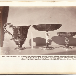 Heliotrope lipped ewers, Jasper tazza with stem in the form of a woman, Oval jasper bowl with fretwork stem