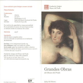 Grandes obras del Museo del Prado : Salas del Museo : otoño 2014 / Amigos del Museo del Prado.