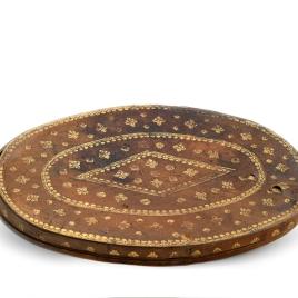 Estuche para bandeja oval de ágata con decoración cruciforme