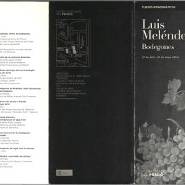 Luis Meléndez : bodegones : cursos monográficos / Museo Nacional del Prado.