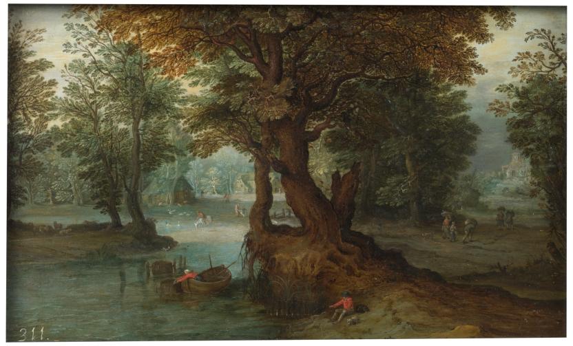 Bosque con laguna