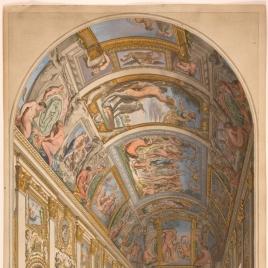 Vista de la Galería Carracci en el palacio Farnese