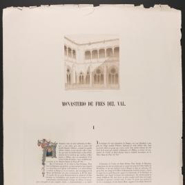 Página de texto sobre el Monasterio de Fresdelval en Burgos, ilustrada