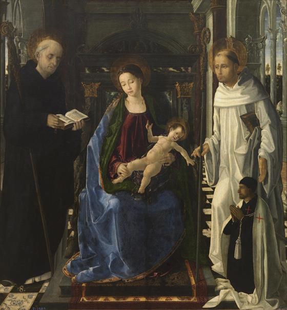 La Virgen del caballero de Montesa (reprodución fotográfica)