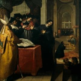 San Juan de Mata renuncia al doctorado y lo acepta luego por inspiración divina
