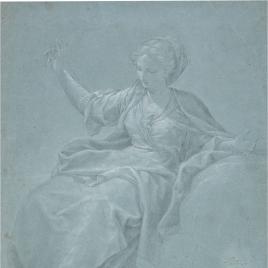 Figura femenina y apunte de ángel niño