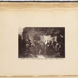 Salida de misa en una aldea. Santiago de Galicia. 1862