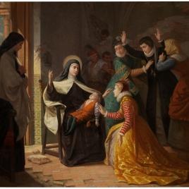 Primer milagro de Santa Teresa de Jesús. Resurrección de su sobrino don Gonzalo Ovalle, hijo de su hermana doña Juana de Ahumada