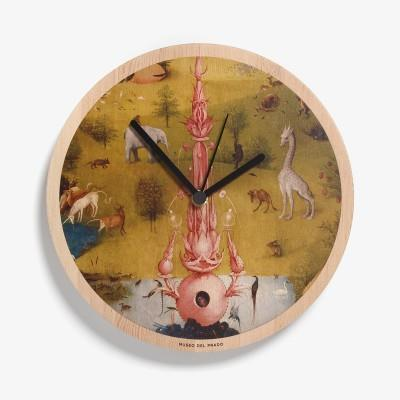 """The Garden of Earthly Delights"" Wooden Wall Clock"