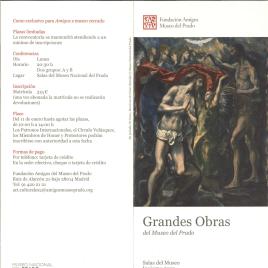 Grandes obras del Museo del Prado : Salas del Museo : invierno 2012 / Amigos del Museo del Prado.