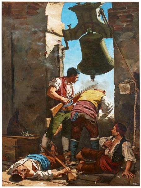 Heroica defensa de la torre de San Agustín en Zaragoza en la Guerra de la Independencia