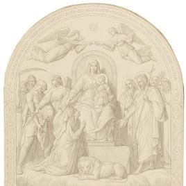 La villa de Lyon preservada del cólera por la intercesión de la Virgen (Nuestra Señora de Fourvière, Lyon)