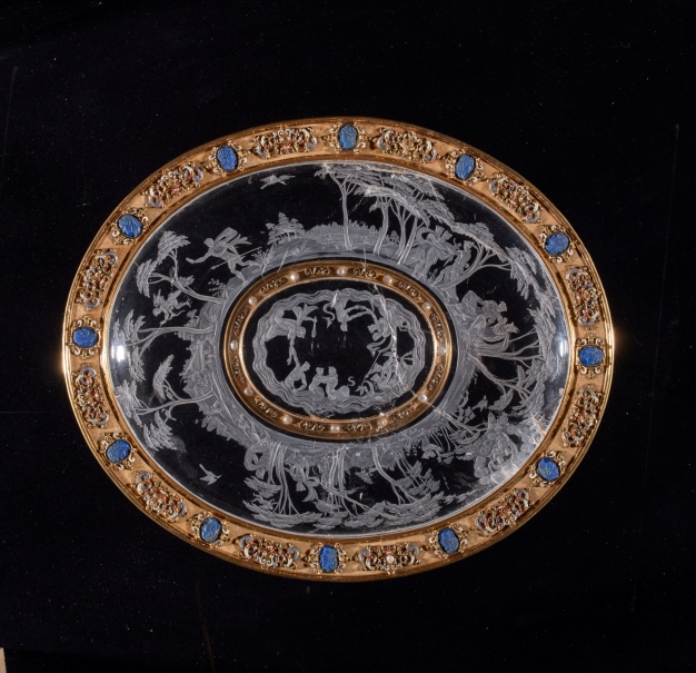 Platter with the story of Hermaphroditus and cameos of the Twelve Caesars
