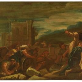 Felipe II inspecciona las obras de El Escorial