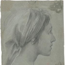 Cabeza para la figura de Santa Isabel