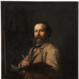El pintor Salvador Martínez Yago, padre del artista