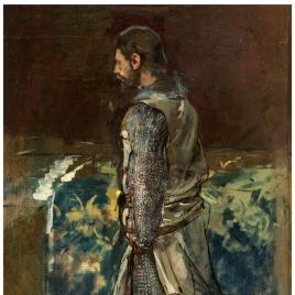 El infante don Pedro, arrodillado (Estudio para Últimos momentos del rey don Jaime)