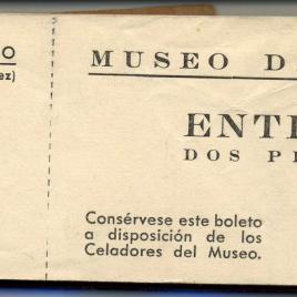 Taco de billetes de entrada al museo [1939-1954]