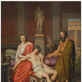 Sócrates reprendiendo a Alcibíades en casa de una cortesana