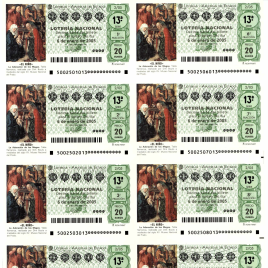 Capilla de billete de Lotería Nacional para el sorteo de 6 de enero de 2005