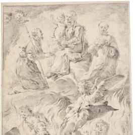 La Virgen con Santos y almas del Purgatorio