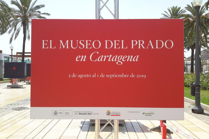 Cartagena acoge una muestra al aire libre de reproducciones fotográficas de cincuenta obras de la colección del Museo del Prado