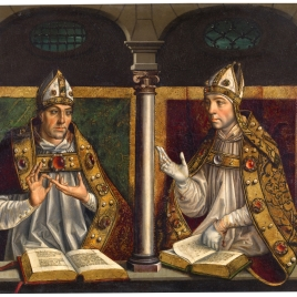 Saints Ambrose and Augustine