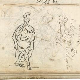 Estudio de las figuras de Aníbal y del Genio. Ensayo de encabezamiento de carta