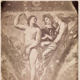 """""""Las tres diosas"""", pintura al fresco en la Villa Farnesina de Roma"""